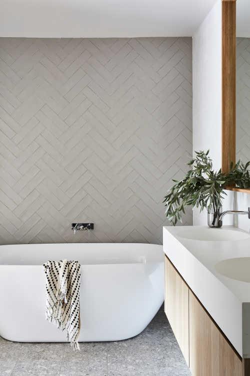 grey tones natural bathroom